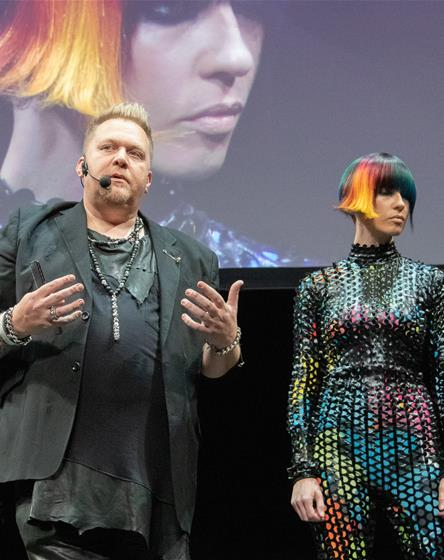 Chrystofer Benson on stage at ISSE 2019